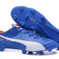 Sepatu bola Puma evospeed SL FG Electric Blue Grade Ori