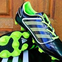 Jual Sepatu Sepak Bola Adidas Predator Classic Hitam Hijau (Lokal) New