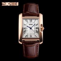 jam tangan wanita / perempuan original model casio 1085 coklat SKMEI