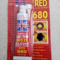 Lem Silicone red 85gr Tahan panas