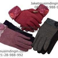 Sarung Tangan Musim Dingin Wanita Touch Screen/Gloves Winter Katun 03