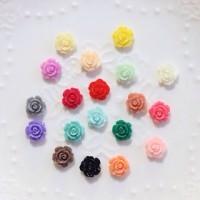 Flower resin rose 3D bunga mawar nail art deco mainan kuku charm