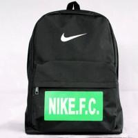 Tas Gendong Nike FC hitam 3 (kuliah,sekolah,olahraga,sport,Ransel,bag)