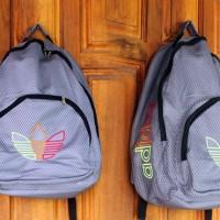 Tas Gendong Adidas Abu (kuliah,sekolah,olahraga,sport,Ransel,bag)