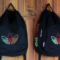 Tas Gendong Adidas hitam (kuliah,sekolah,olahraga,sport,Ransel,bag)
