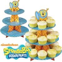 cupcake stand / rak cupcake 3 tier spongebob ulang tahun / ultah