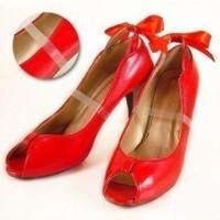 Tali Sepatu Transparant Invisible Shoes Belt untuk sepatu hak tinggi