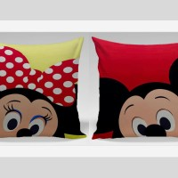 Bantal Sofa / Bantal Couple - Mickie & Minnie Face