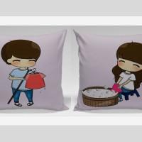Bantal Sofa / Bantal Couple - Happy couple activities