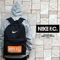 Tas Ransel Nike FC Hitam Logo Orange