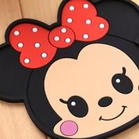 Tatakan Gelas Karakter Mickey dan Minnie