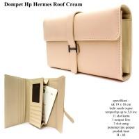 dompet wanita hpo kulit hermes roof 1hp max 5,8inc cream