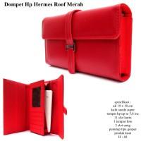 dompet wanita hpo kulit hermes roof 1hp max 5,8inc merah