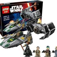 Lego Lepin 05030 Star Wars Vader's Tie Advanced vs A-Wing Starfighter