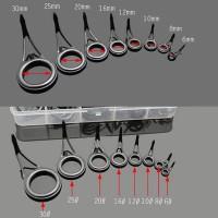 Ring Guide Set Joran, Stainless 1 Kaki, 8 Biji, Tanpa Top Guide