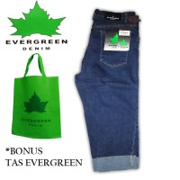 Celana Pendek Jeans/Pria/Wanita/Stikbalik/Street/Soft Evergreen 781