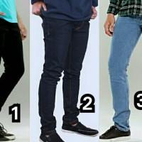 celana panjang jeans skinny/slimfit pria murah