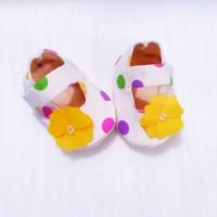 Sepatu Bayi Flanel Motif Katun