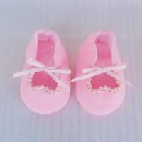 Sepatu Bayi Flanel Pink