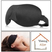 Kacamata Tidur / Masker Mata / Soft Sleeping Googles - Black