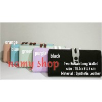 TWO BUTTON LONG WALLET - NAMY SHOP