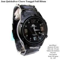 Jam quicksilver cisero tanggal full set - hitam