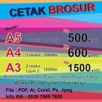 Cetak Brosur ukuran A5 Full Color