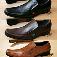 Sepatu kickers pantofel kulit kerja kantor 3warna pilihan pria