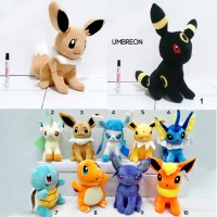 Boneka Pokemon Umbreon Eevee Leafleon Squirtle Charmender 30Cm