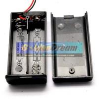 Kotak Batre 2x AA Battery Holder Baterai Casing Batere + Tutup Saklar