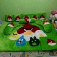 kasur lantai / karpet karakter angry berd hijau