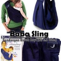 Gendongan Bayi Sling Baba Baby Deep Blue