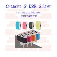 Kepala Charger 3 USB Port 3.1 Amp Universal   Batok Charger 3 USB Port