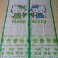 Tirai magnet Anti Nyamuk Hello Kitty Hijau