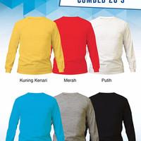 Size XXL - Kaos Polos Murah Lengan Panjang Cotton Combed 20s