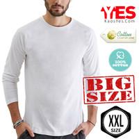 KaosYES Kaos Polos T-Shirt *BIG SIZE XXL* O-NECK LENGAN PANJANG