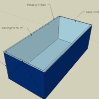 Terpal Kolam Lele 1x0.5x0.5 Meter