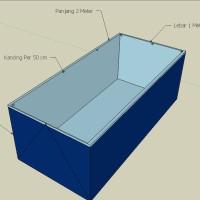 Terpal Kolam Lele 2x1x0.5 Meter + Pembuangan Air