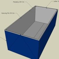Terpal Kolam Lele 1x1x0.5 Meter | Kolam Terpal Ukuran 1 x 1 x 0.5 M