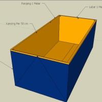 Terpal Kolam Lele 1x1x1 Meter | Kolam Terpal Ukuran 1 x 1 x 1 Meter