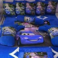 kasur lantai / karpet karakter cars biru