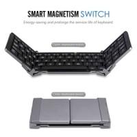 Three Folding Magnetic Metal Bluetooth Portable - Keyboard
