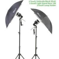Paket Lighting Mini Studio Umbrella Tronic Lamp Kit