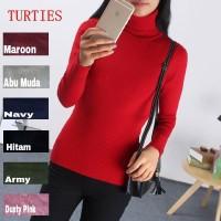 Baju Rajut Korea Murah (Turtle Neck Lengan Panjang) Grosir
