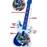 Mainan Anak Gitar Avengers Battle For Earth Music Electric / Guitar