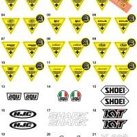 Sticker/Stiker Visor Helm (KYT,INK,MDS,AGV,SHOEI,ZEUS,AIROH,SHARK,KBC)