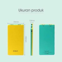 Robot RT9100 2 USB Ports 9000mAh Power Bank Yellow+Green - TLC0029