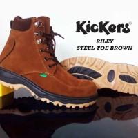 Sepatu Pria Kickers Boot Safety Steel Toe Ujung Besi