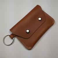 Dompet STNK kulit sapi asli | gantungan kunci mobil motor warna tan