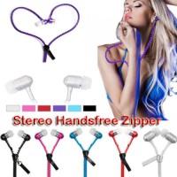 Stereo Handsfree Zipper + Mic Telpon Universal|Headset|Earphone Zipper